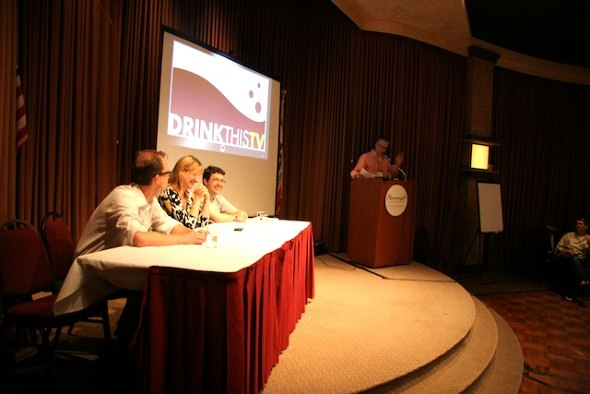 2009 Wine Bloggers' Conference: John McWeeny, Lisa M. deBruin, Hardy Wallace and Bob Asher