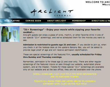 21+ Arclight Screenings
