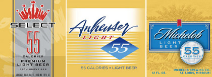 A-B InBev 55 Calorie Line up