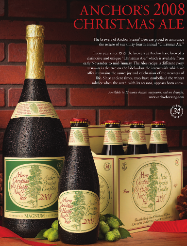 for the last 33 years anchor brewing has released a special christmas ale - Anchor Brewing Christmas Ale