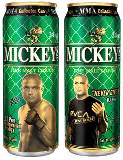 Mickey's MMA Cans - BJ Penn