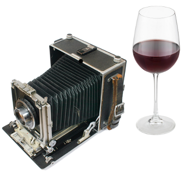 Old Camera and Wine